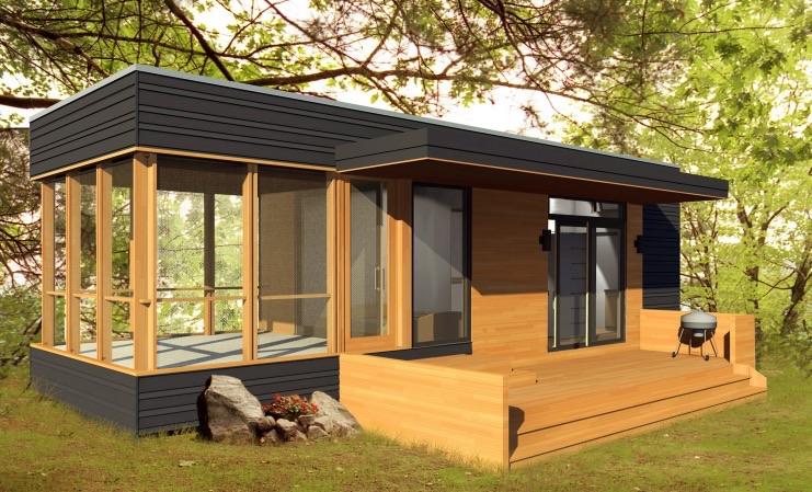 288 Sq Ft Solo 24 Bunkie Modern Prefab Tiny Home