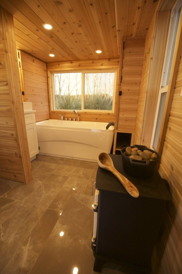 The Spa Tiny House with Transforming BathroomSauna