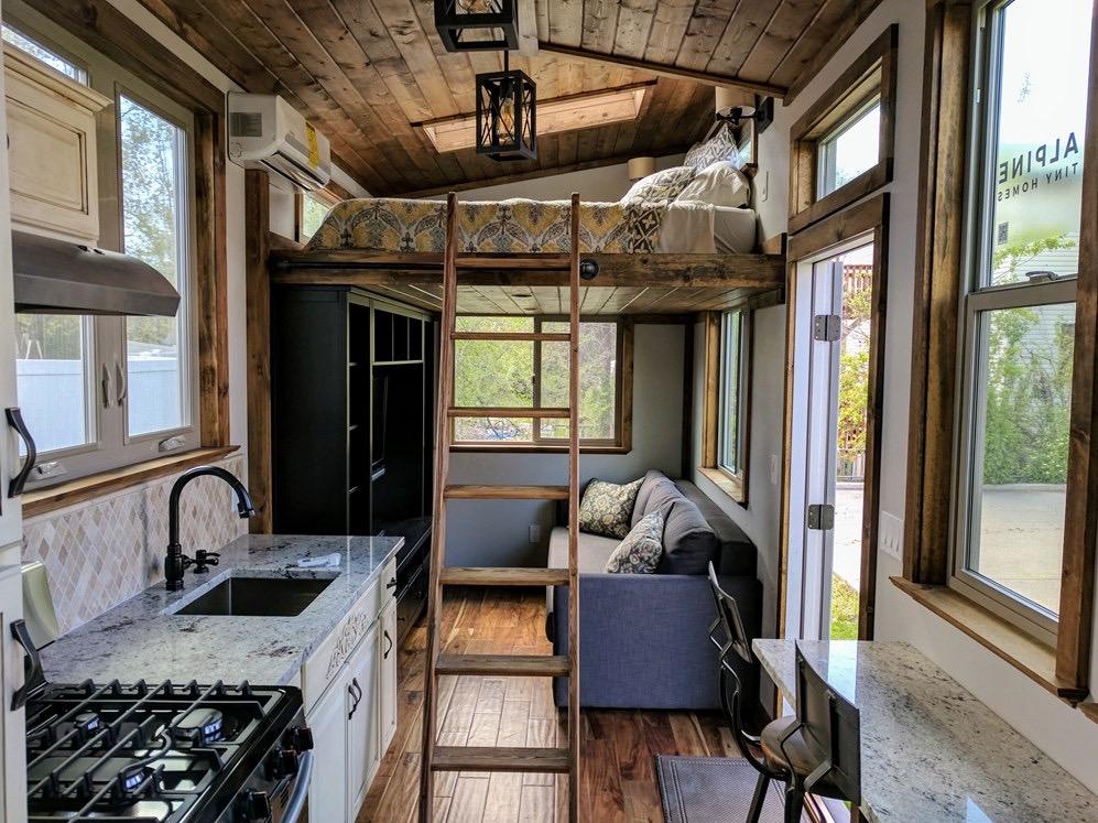 240 Sq Ft Teton Tiny House on Wheels by Alpine Tiny Homes