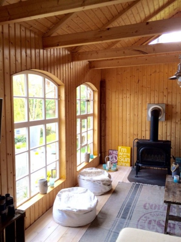 inside garden cottage