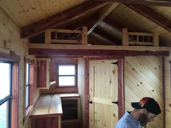 260 SF Floating Amish Log Cabin 003