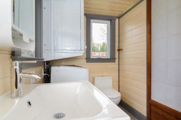 300 Sq Ft Custom Tiny Home on Wheels by Wishbone Tiny Homes 0012