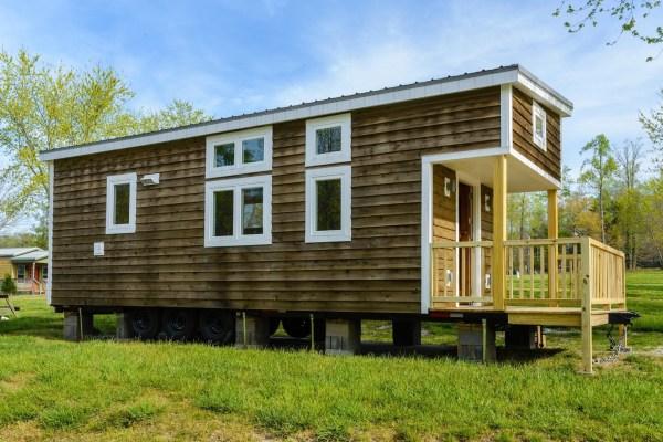 300 Sq Ft Custom Tiny Home on Wheels by Wishbone Tiny Homes 0025