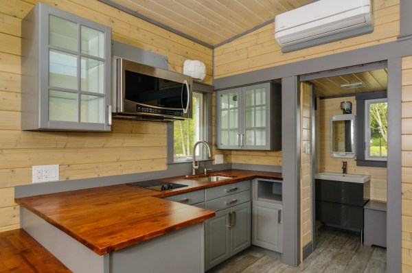 300 Sq Ft Custom Tiny Home on Wheels by Wishbone Tiny Homes 007