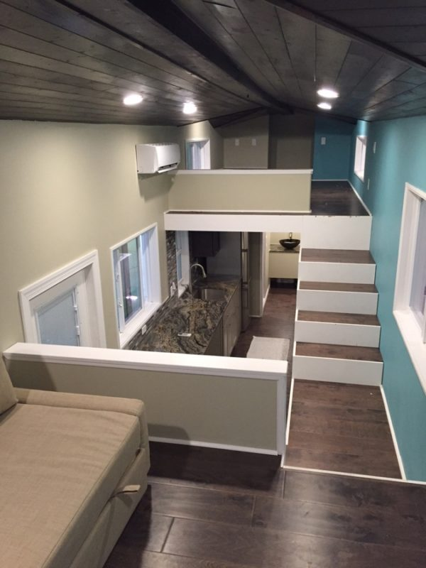 32 Gooseneck Westbury Tiny House with Awesome Living Room