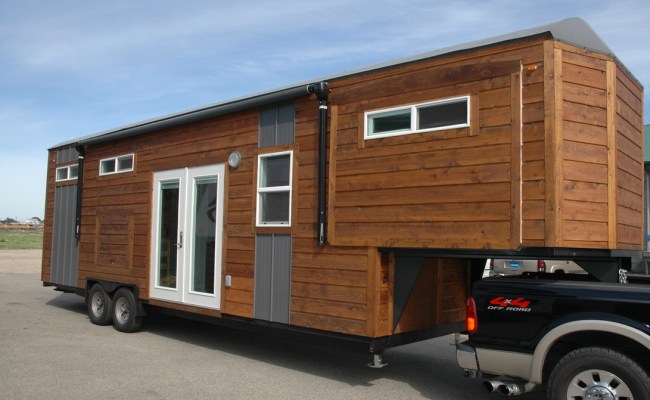 34 Gooseneck Tiny House With 3 Slide Outs Sold For 66k