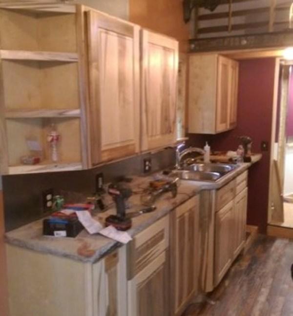spacious kitchen in tiny house