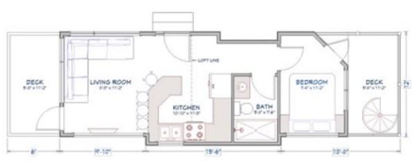 400 sq ft Denali Tiny House by Utopian Villas 003
