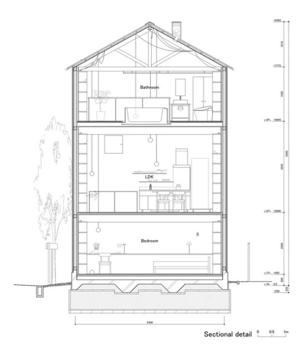 624 Sq. Ft. 3-Story Small House In Japan
