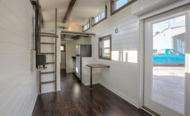 40ft Tiny House Built Using A Disguised Shipping Container