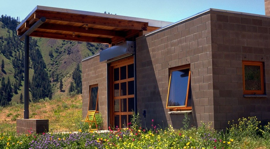 450 Sq Ft Concrete Block Tiny Home