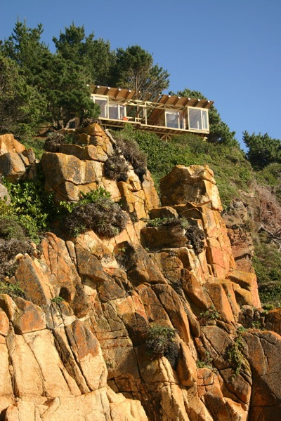500-square-foot Small House on a Cliff with Water Views