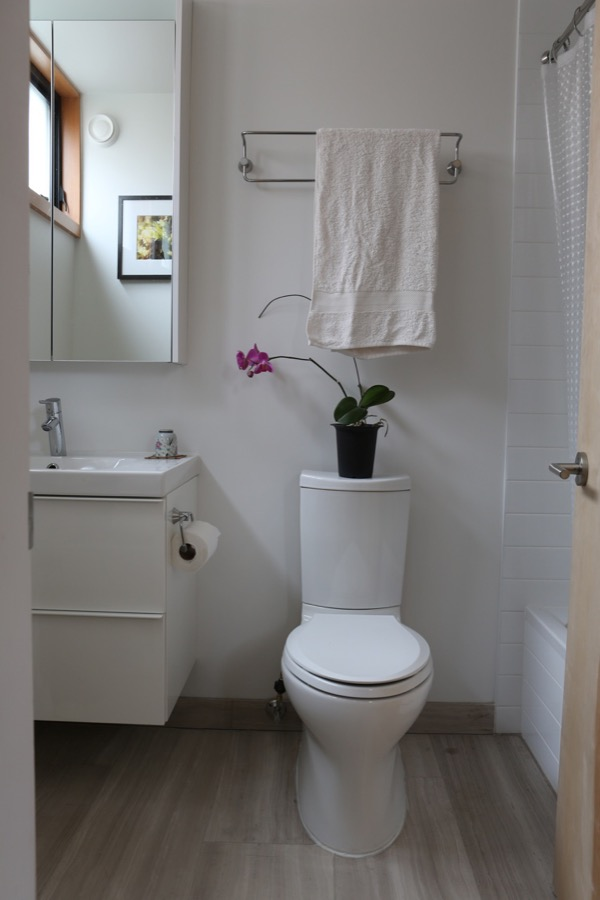 bright white bathroom in cottage