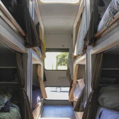 Kitchen Pull Out Trash Can Curtians 8 Students Convert Old School Bus Into An Amazing Diy ...
