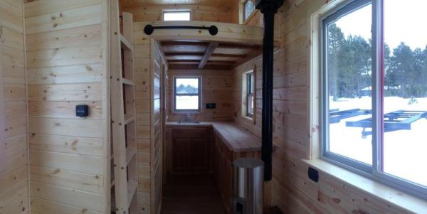 8x22 Tiny Cabin on Wheels 006