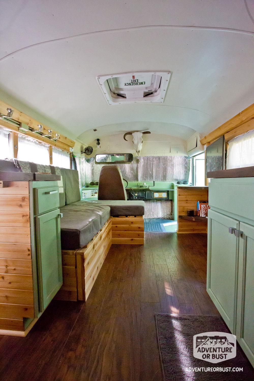 Adventure or Bust School Bus Conversion Tour