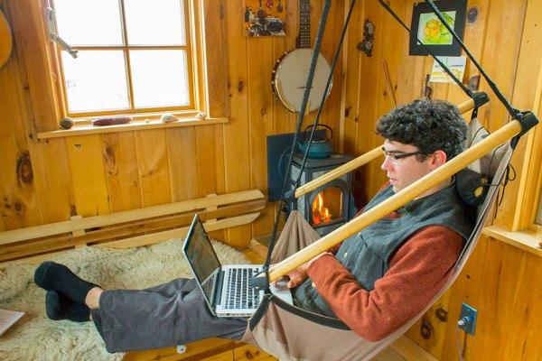 Aldo Gold Thread Tiny House Hammock Chair