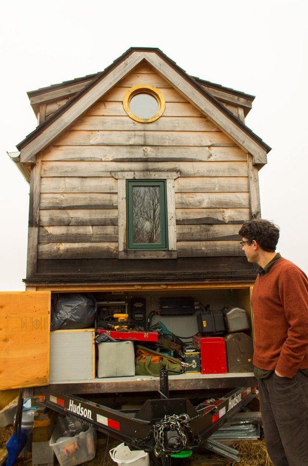 Aldo Gold Thread Tiny House Exterior Storage