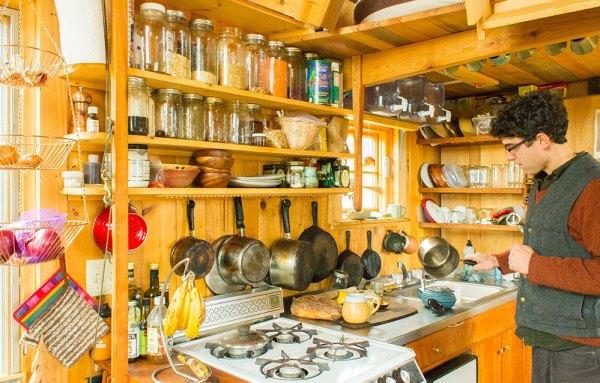 Aldo Gold Thread Tiny House Kitchen