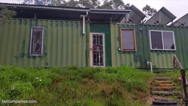 Aussie Couples Off-Grid Shipping Container Home 001a