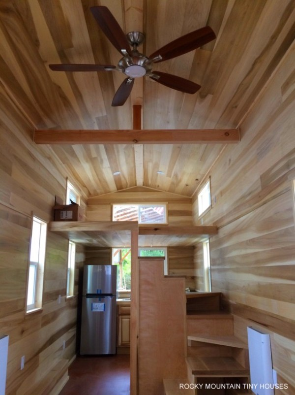 Bayfield Tiny Home view of the Main Sleeping Loft with Windows