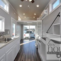 Triple Sink Kitchen Ikea Base Cabinets Bayview Tiny House: Home On Wheels With Sliding Glass ...