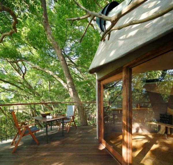 Bird's Nest Treehouse by Hiroshi Nakamura 004