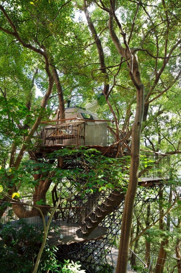 Bird's Nest Treehouse by Hiroshi Nakamura 005