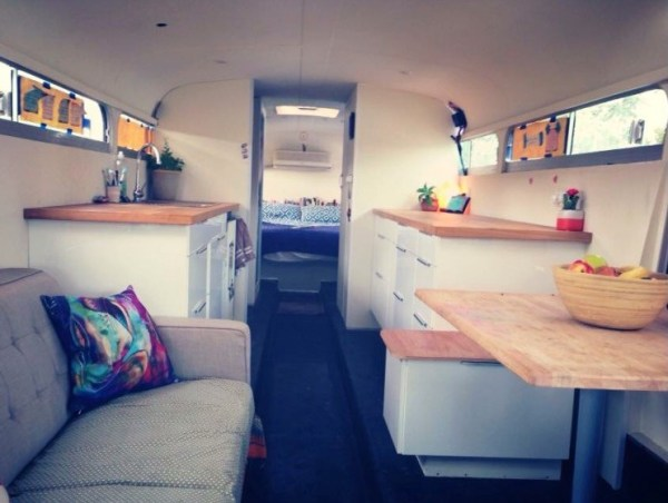 Couple Renovate Old Bus into Awesome DIY Motorhome