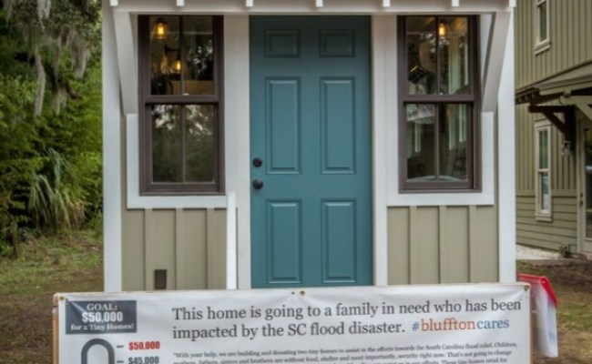 People Building Tiny Homes For Flood Victims In South Carolina