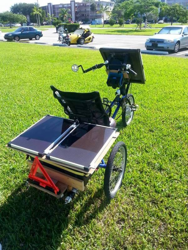 Bob Sheratons Solar Powered Trike 002