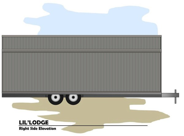 Brother and Sisters Lil Lodge Tiny House on Wheels Project 0018