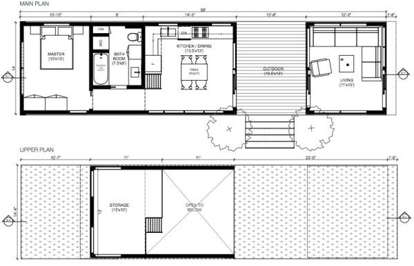 640 sq ft california solo 1 modern prefab tiny house for 640 square feet floor plan
