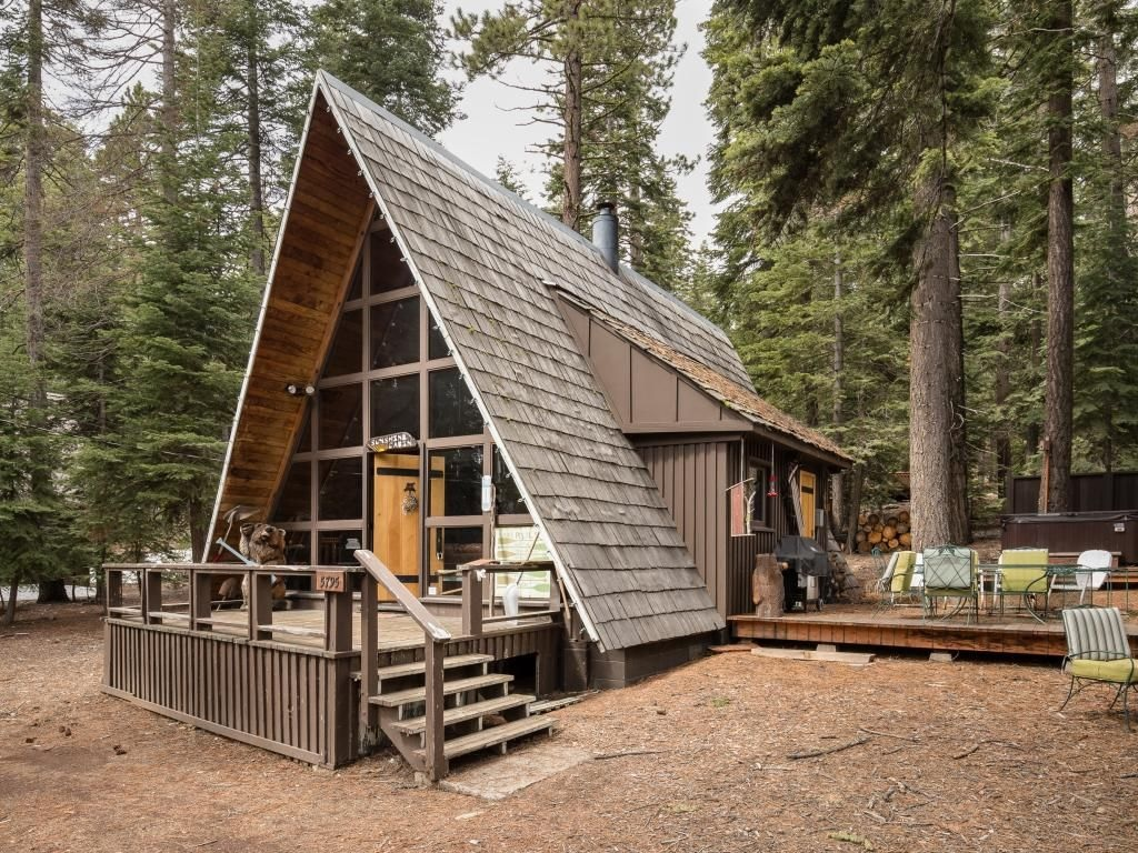 Carnelian bay a frame vacation cabin for Tiny vacation homes