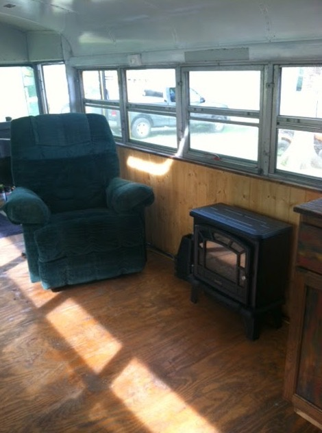 Chelie's Simple Rustic School Bus Conversion 0011