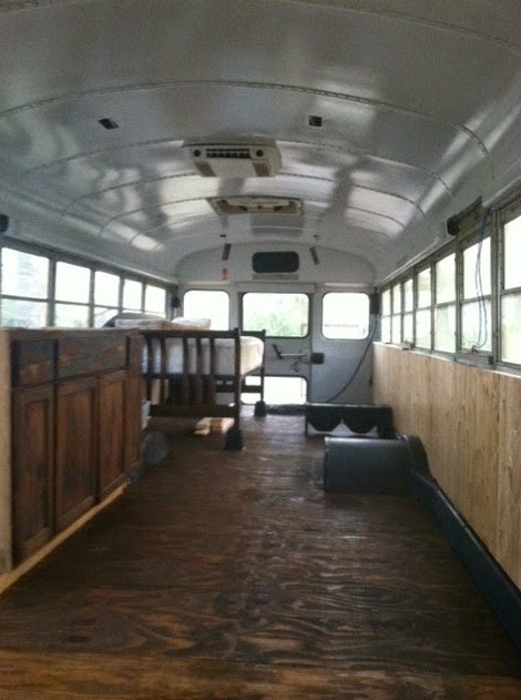 Chelie's Simple Rustic School Bus Conversion 0013