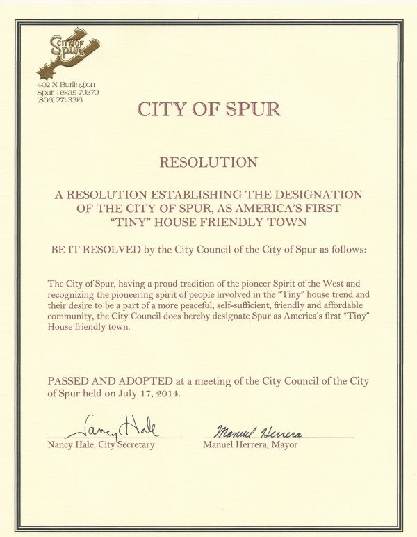 City-of-Spur-Tiny-House-Proclamation-Resolution