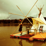 College Student Builds Floating Teepee