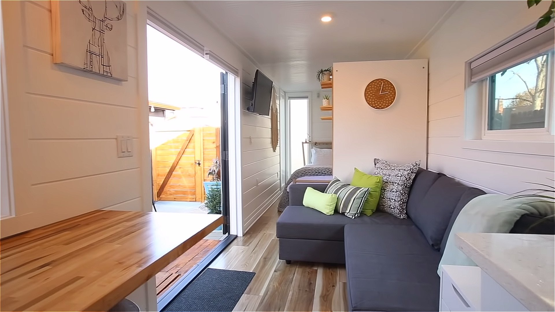 Couple Build 33Foot Shipping Container Tiny House in