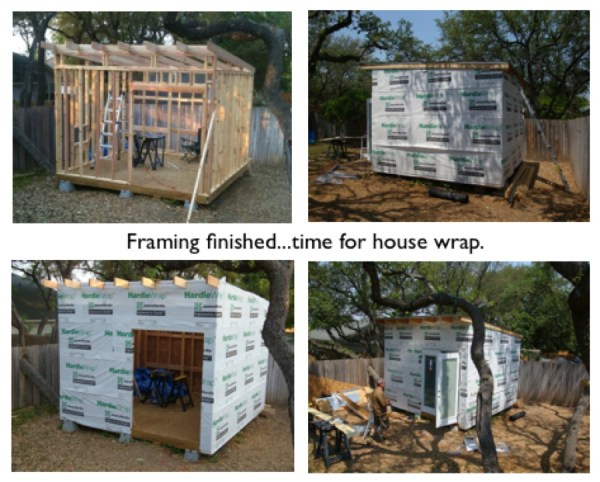 framing the work shed