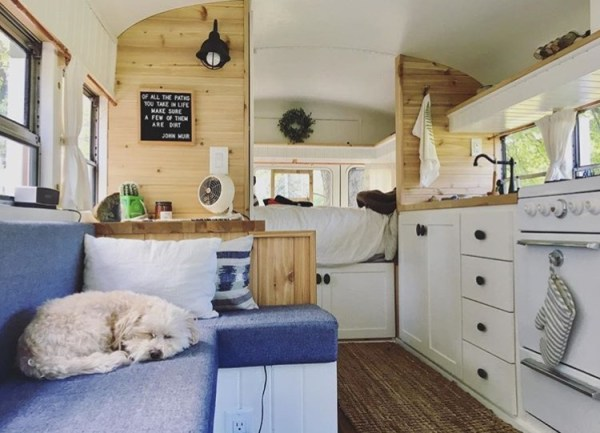 Couple Ditch 9-5 to Travel in their DIY Skoolie