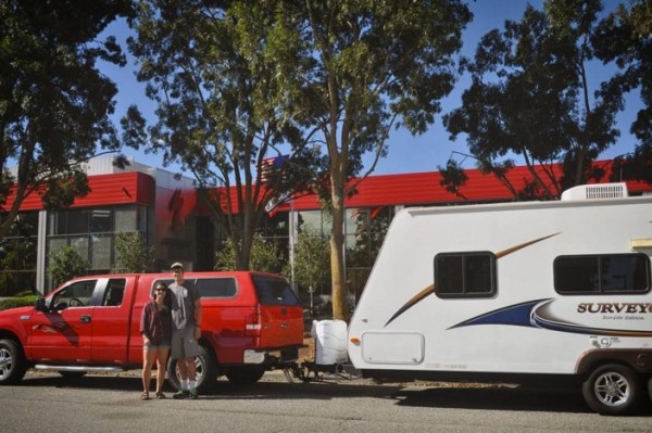Couple Renovate Travel Trailer into Nomadic DIY Tiny Home 001