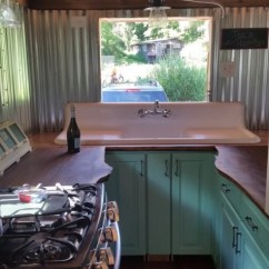 Tiny House Kitchens Free Outdoor Kitchen Plans Couple With Two Dogs And One Cat Living In A