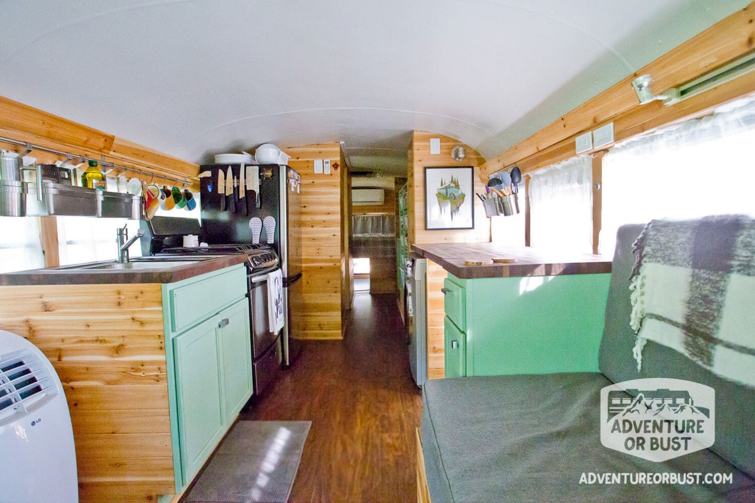 Couple\u0027s Adventure or Bust Converted School Bus