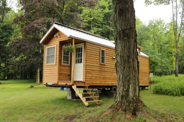 Couple's Off-Grid Solar Tiny House on Wheels