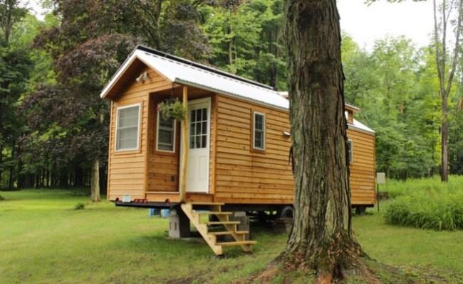 Couple S Off Grid Solar Tiny House On Wheels