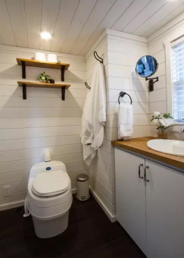 Composting Toilet, Shelving, Towel Hooks, Vanity, Etc.
