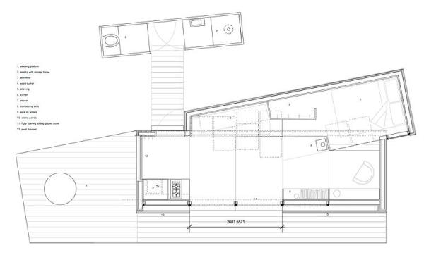 Crete THOW Floor Plan Design 01