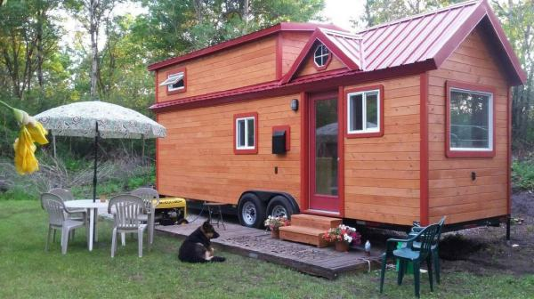 Custom 26' Tiny House on Wheels by Tiny Treasure Homes