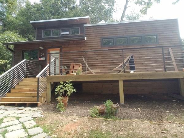 Custom tiny house on a foundation built by nanostead for Tiny house on foundation